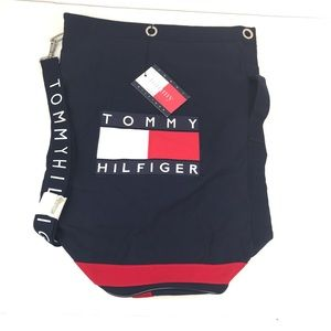 New Old Vtg Tommy Hilfiger Duffle Logo Spellout
